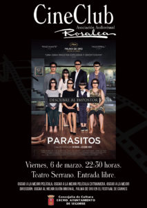 """Cine Club: Proyección """"Parásitos"""""""
