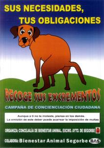 Cartel de recogida de excrementos de animales