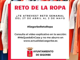 #SegorbeRetoRopa