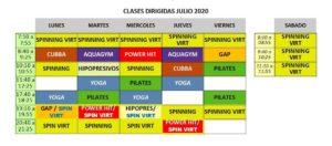 Horarios del CADES para julio