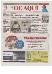 El Periódico de Aquí - Agosto (Portada)