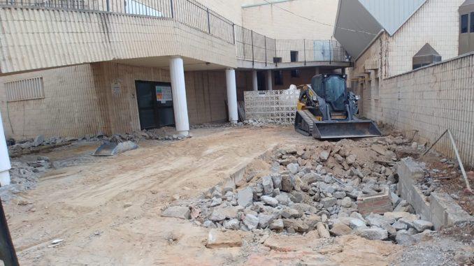 Acceso al Conservatorio Municipal durante las obras